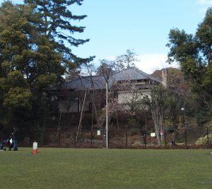 国の史跡に指定された近衛文麿邸「荻外装」 杉並区荻窪4丁目 手前の広場は区民に開放されている