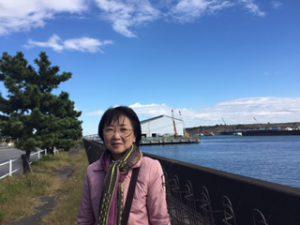 2020東京大会 海の森ボート・カヌー競技場予定地を視察 11/9